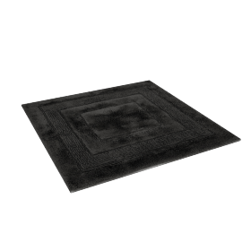Aristocrat Plush Square Bath Mat, Black