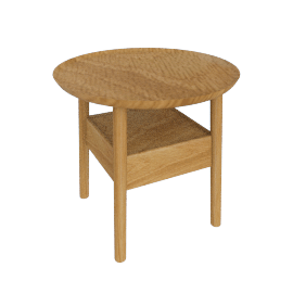 Edge Bedside Table, Oak