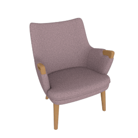 CH71 Lounge Chair, Peony with Oak