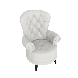 Liva Accent Chair, White