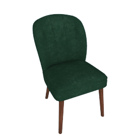 Margot Dining Chairs, Pine Green Velvet