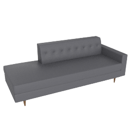 Bantam Studio Sofa in leather, Mineral