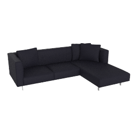Bilsby Sectional with Chaise in Leather, Right