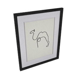 Picasso- Le Chameau Framed Print, 40 x 50cm