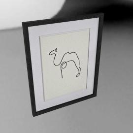 Picasso- Le Chameau Framed Print, 40 x 50cm