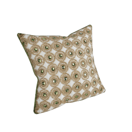 Ethnicity Filled Cushion - 45x45 cms, Gold