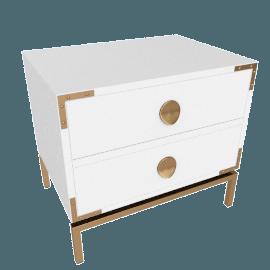 Melrose High Gloss 2-Drawer Night Stand