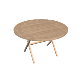 Tahiti Folding Circular Garden Table
