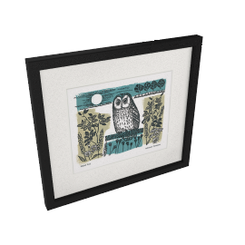 Adelene Fletcher - Night Owl Framed Print, 49 x 44cm