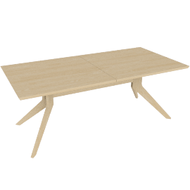 Cross Extension Table, Oak