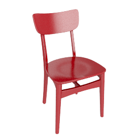 Asta Dining Chair, Red