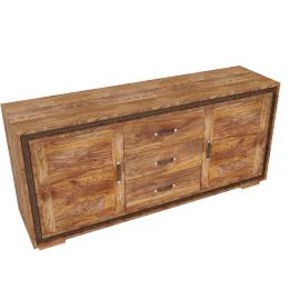 Wolfmoebel SHAN - Kommode mit 3 Schubladen / 2 Türen