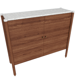 Morrison Console, walnut with Carrara top