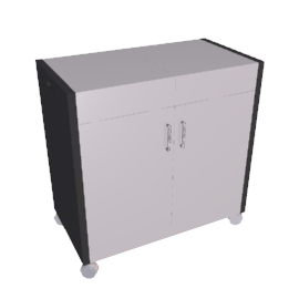 Hostess Trolley, HL6232BS, Stainless Steel