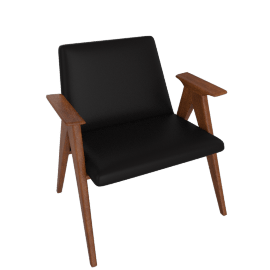 Libera Armchair, Leather Black