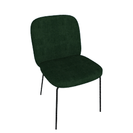 Safia Dining Chair, Pine Green Velvet