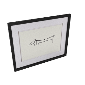 Picasso- Le Chien Framed Print, 40 x 50cm