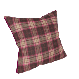 Osborne & Little Lomond Check Cushion, Pink