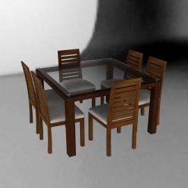 Basement Home Juego de comedor cuadrado 6 sillas Capri