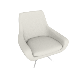 Noomi Swivel Chair , Ivory Leather