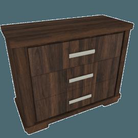 Optec 3-Drawer Dresser