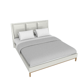 Melrose King Bed with Upholstered Headboard