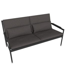 Sommer Two-Seater Sofa, Black