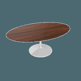 Saarinen Low Oval Coffee Table - Rosewood - White.Rosewood
