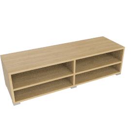 Match Low Wide Shelf Unit, Oak
