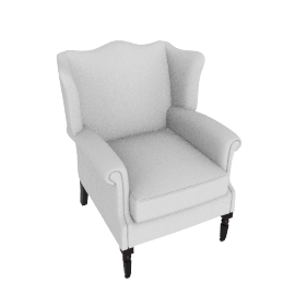 Cadogan Wing Chair, Linen