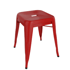 Pair of Legend Café Stools, Red