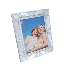 Cirque Photo Frame - 8x10 inch, Silver