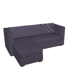 Newark Corner Sofa, Grey, LHF
