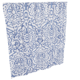 Adrika Shower Curtain - 240x180 cms, Blue