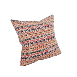 "Girard Pillows in Arabesque , Persimmon - 17"" x 17"""