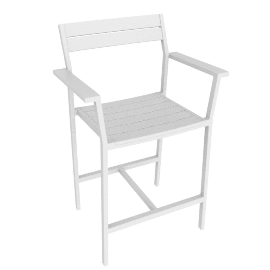 Eos Counter Stool, White