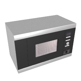 AEG MCD1762EM Built-in Microwave and Grill, Stainless Steel