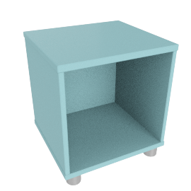 Box Single Cube Unit, Blue