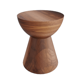 Hew Side Table, Shape C, Walnut