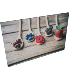 Berries Canvas Print Wall Art - 60x2.5x90 cms