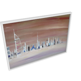 Dubai Skyline Framed Canvas Print - 100x4.3x70 cms