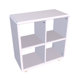 Mini Malibu Bookcase, Silver
