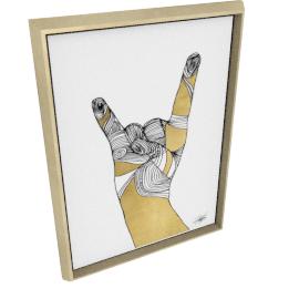 Sign Language IV by KelliEllis - 24''x32'', Gold