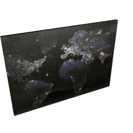 Glitter World Printed Canvas