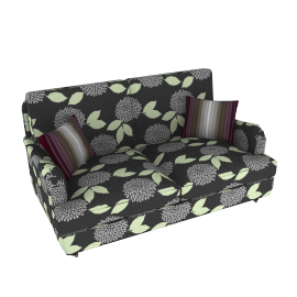 Duresta Walcot Small Sofa, Claverton Silver/Lilac