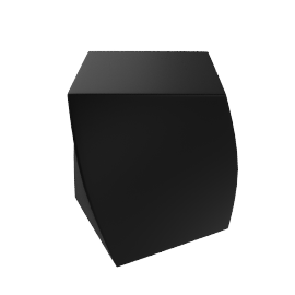 Frank Gehry Left Twist Cube - Black