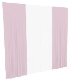 Ashley 4-Piece Curtain Set - 135x240 cms, Pink