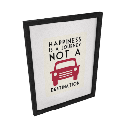 East of India Happiness is a Journey Framed Print, 43 x 33cm