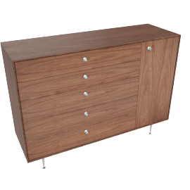 Nelson Thin Edge Chest Cabinet, Walnut