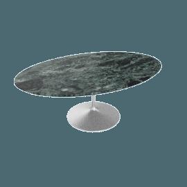 Saarinen Low Oval Coffee Table - Coated Marble 2 - Plt.VerdeAlpi